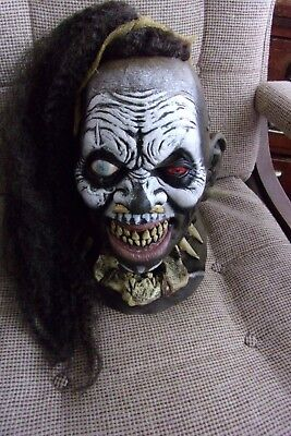Voodoo Houngan Witch Doctor Tribe Priest Deluxe Latex Mask Halloween - Witch Latex Mask
