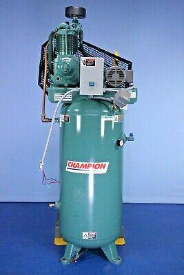 Champion Casrsar 1.5-30 Hp 60 Gallon Air Compressor Low Hours Tested Warranty
