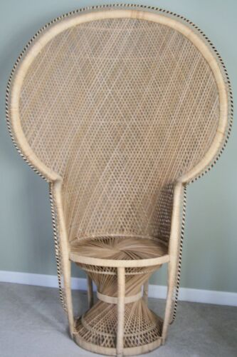 Vintage Wicker Peacock Chair ABSOLUTE MINT! Chair Was Never Sat In