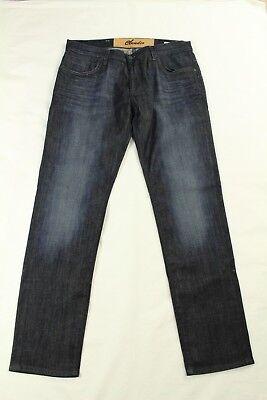 Claudio Milano Herren Jeans Niedrig Sitzende Skinny Dunkle Waschung Größe 34x32 ()