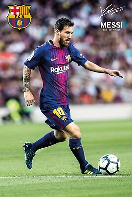LIONEL MESSI 2018 BARCELONA POSTER 24x36 FOOTBALL SOCCER FC 34278