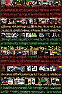 Black History Month Posters (Black Revolutionaries, Heroes and Activists Posters, Black History Month)