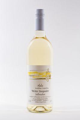 Pfälzer Weißburgunder halbtrocken 6 x 0,75 L Flasche direkt vom Winzer