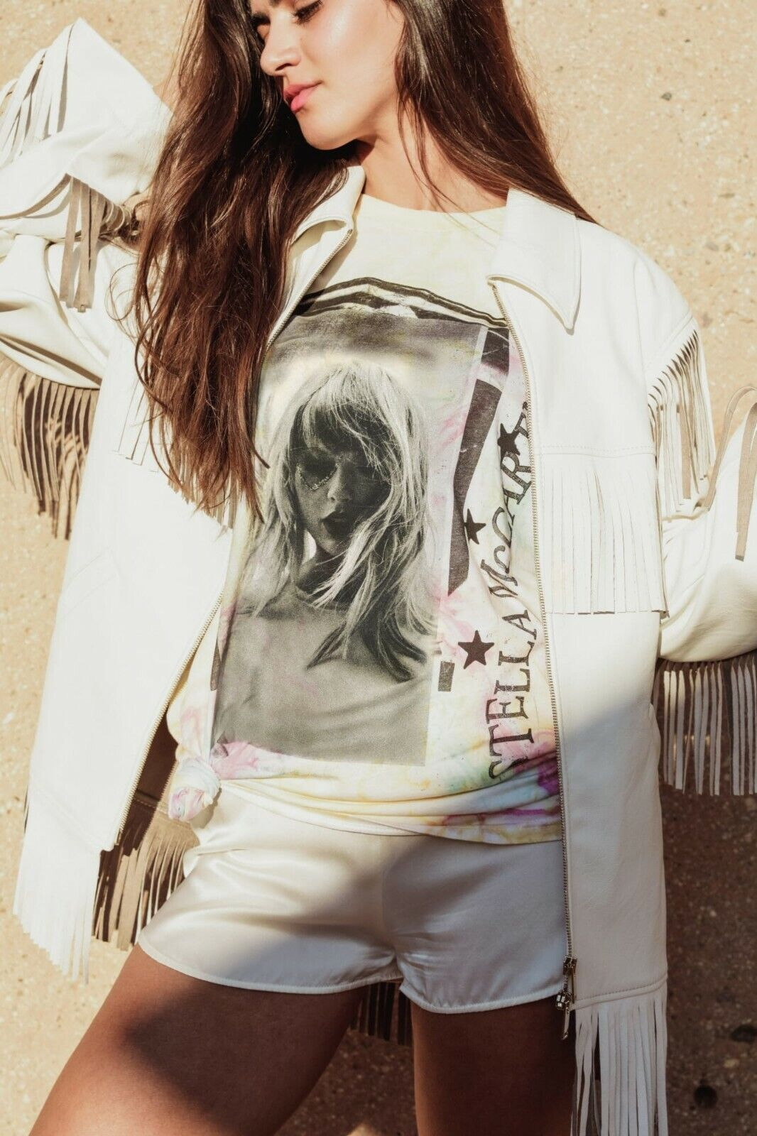 Taylor Swift X Stella McCartney LOVER Marble Dye Tee With Tracklist IN HAND