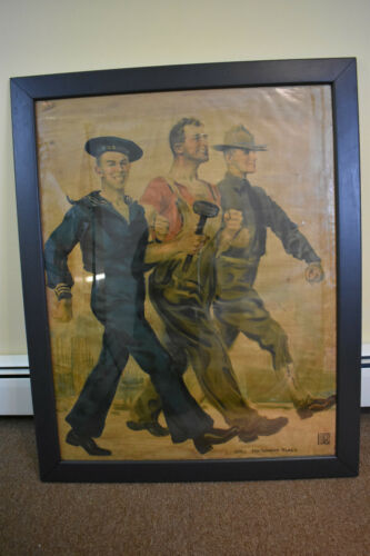 Antique WWI Framed Poster