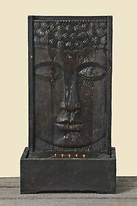 RIESIGER BRUNNEN BUDDHA 90cm HÖHE WETTERFEST BUDDHAKOPF SKULPTUR STATUE FIGUR