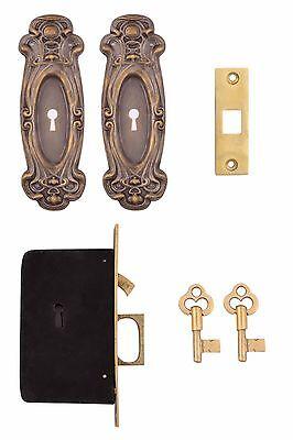 Keyed Lock-set (Avalon Keyed Pocket Door Mortise Lock Set )