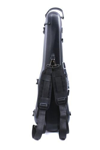 4/4 Violin Case  Full Size Carbon Fiber Violin Box Black Color Light Strong