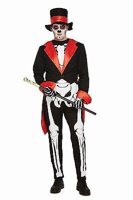 Hombre DÍA DE LOS MUERTOS Adultos Disfraces Miedo Truco Trato Disfraz Halloween (Disfraces De Halloween De Miedo)