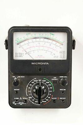 Vintage Radioshack Micronta 22-210 Analog Multimeter Multitester With Leads