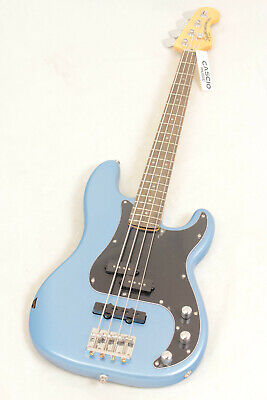 Fender Squier Vintage Modified Precision Electric Bass, Lake Placid Blue