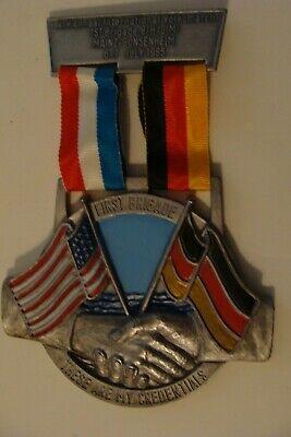 German American hiking medal 1st Brigade 8th ID(M) Volksmarch Mainz Gonsenheim