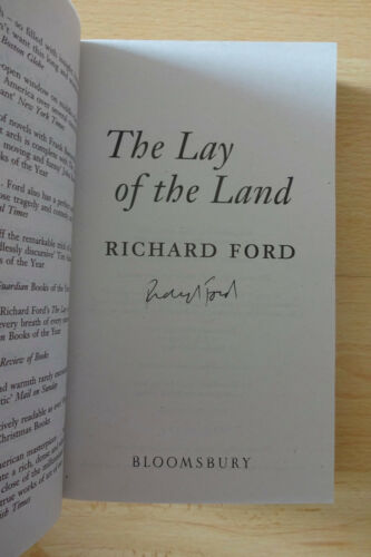"Richard Ford Autogramm signed Taschenbuch ""The Lay of the Land"""