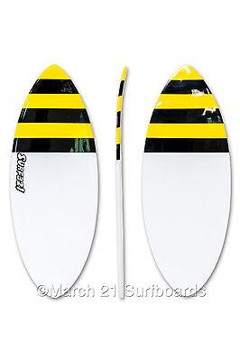 "52"" Epoxy EPS Skimboard Medium Pin Tail Bee Skim Surf"