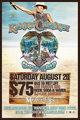 "KENNY CHESNEY ""SPREAD THE LOVE TOUR 2016"" NEW YORK POSTER -Country Music Legend!"