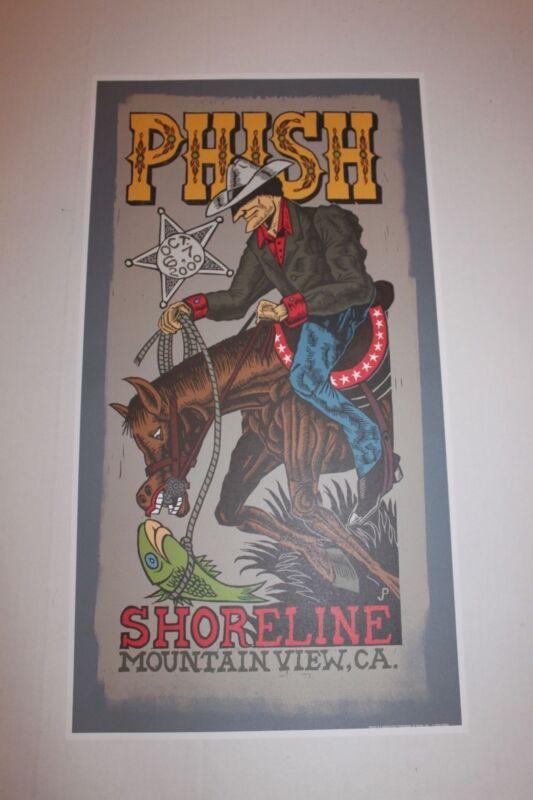 Phish Jim Pollock Poster from Shoreline 2000 Concerts before 1st Hiatus