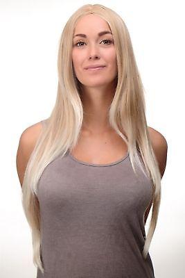 Perücke Blond Erdbeerblond-Platinblond-Mix glatt Mittelscheitel 80cm - Platin Blonde Perücke