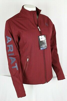 Ariat Women's New Team Softshell Jacket Size Medium Cabernet Heather 10028249