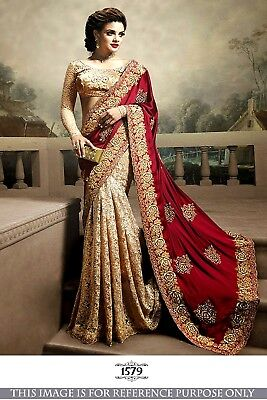 Indian Designer Bollywood Royal Fashion Saree  Party Wear Ethlic Sari
