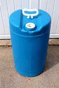 15 gallon plastic barrel, water storage, food grade plastic, prepping, Home Brew