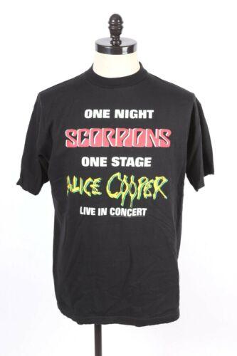 VTG 1996 SCORPIONS ALICE COOPER Rock Tour Concert T-Shirt Mens Size XL