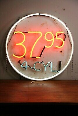 Vintage Neon Sign 4 Cycle Mini Bike Go Kart Motorcycle Advertising Everbrite Inc