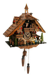 cuckoo clock black forest quartz german music quarz chalet wood beer drinker new