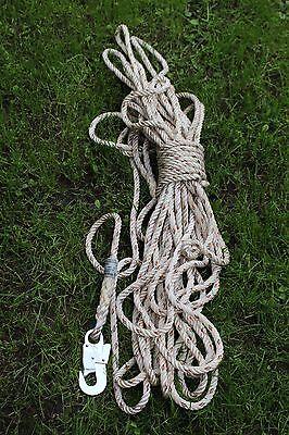 Seil Rettungsseil Sicherungsseil Halteseil Mehrzweckseil 30Meter THW gebr. No5
