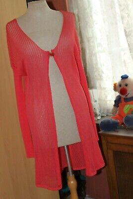 SAVE THE QUEEN  Superbe  gilet  beau coloris rose-orange Taille L ORIGINALE!