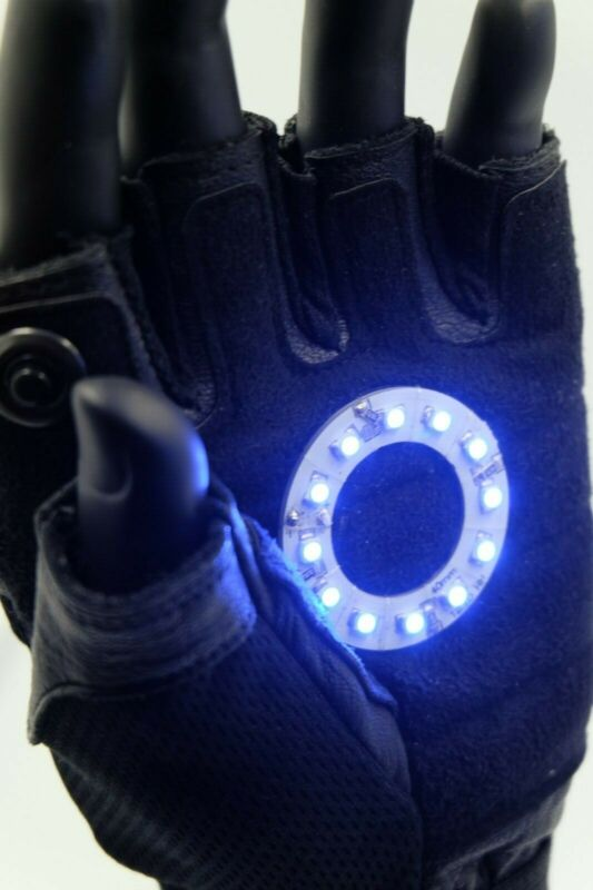 Led Iron man Ark reactor glove ,, Color led: Blue Right Hand