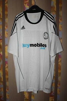 DERBY COUNTY  RAMS FOOTBALL SHIRT 2010 2011 HOME JERSEY PLAYER ISSUE FORMOTION image