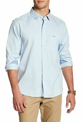 Tommy Bahama Oasis Twill Cotton Silk Blend Shirt XL T317385 Icicle Blue New Tommy Bahama Oasis