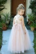 Sweetheart Neckline Cross Straps A-Line Flower Girl Dresses Pageant Dresses 17