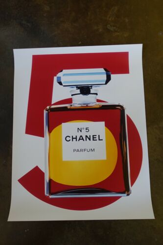 """22""""x28"""" Chanel Coco 5 parfum bottles perfume Advertising affiche Poster Ad"""