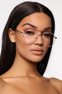 Fashion Nova Pink Sun Glasses Clear Fashion Frames Eyeglasses Women Reading New