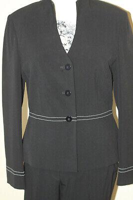 VIVIEN CARON Hosenanzug Kostüm Blazer und Hose Gr. 38 feine Streifen - Business Anzug Kostüm