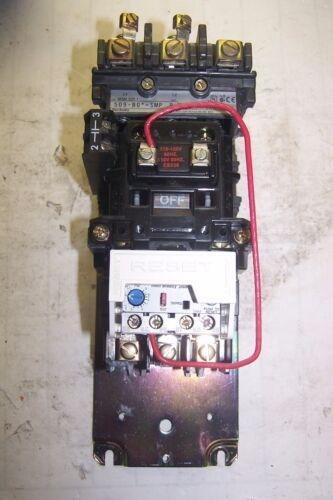 ALLEN BRADLEY SIZE 1 MOTOR STARTER 120 VAC COIL 600V 10 HP 3.7-12A 509-BO*-SMP