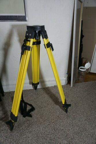Telescoping Tripod for Survey Stations. Adjustable height 3ft to 5ft. Wood legs.