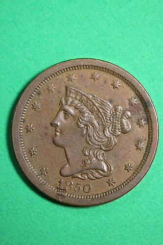 HIGH GRADE 1850 Braided Hair Half Cent Exact Coin Shown Combined Shipping OCE 07