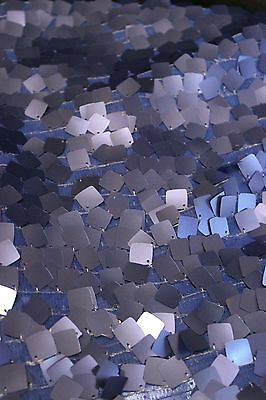 Royal Blue Tulle - 2 YDS SQUARE DANGLE TULLE Royal Blue Sequin Fabric