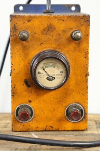 Vintage KING Condenser Capacitor Checker Tester Bakelite Gauge Model CD