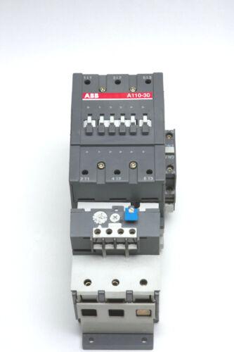 ABB MOTOR STARTER 120 V COIL ABB A110-30 OVERLOAD TA110DU 50-90 AMPS