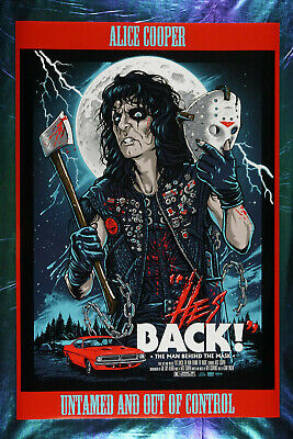 Alice Cooper He's Back Man Behind the Mask Music Poster Red 24X36 New  ACHB