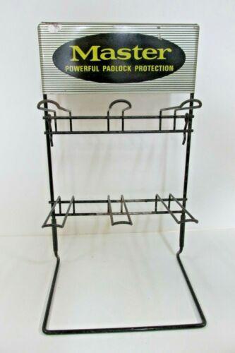 Vintage Advertising  Master Lock ,Metal Store Display, point of sale , Table Top