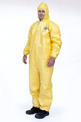 DuPont Tyvek Tychem QC127S QC Chemical Hazmat Coverall Suit W/ Elastic W&A
