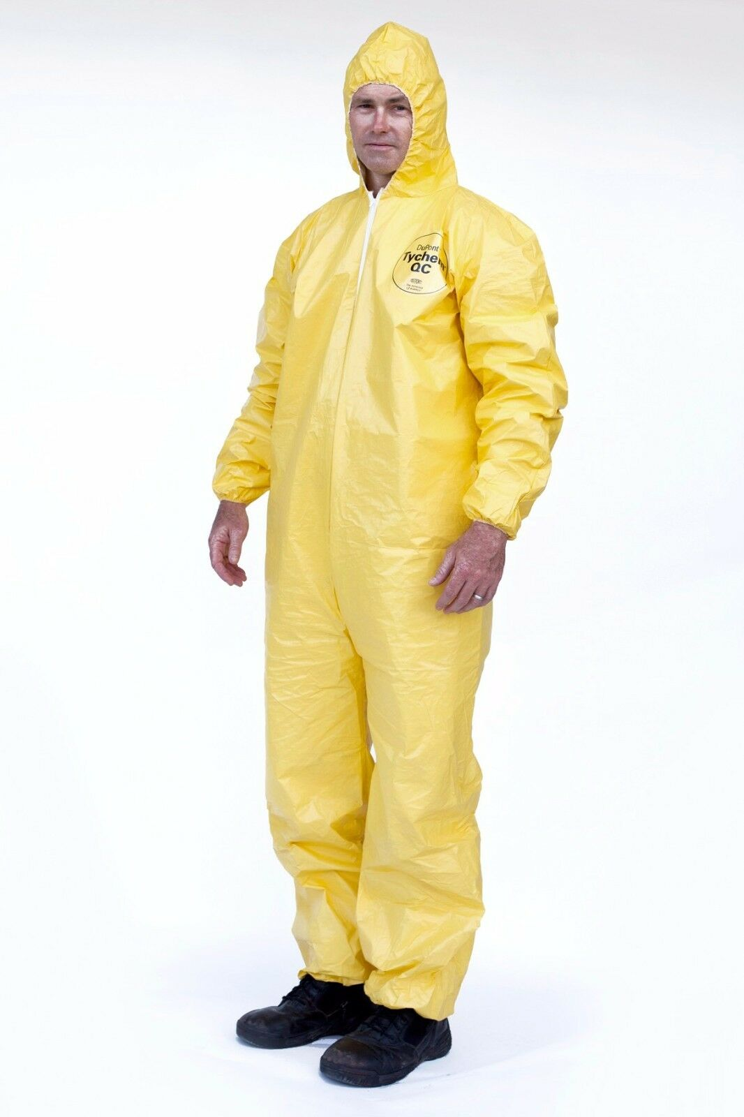 DuPont Tyvek Tychem QC127S QC Chemical Hazmat Coverall Suit W/ Elastic W&A Business & Industrial