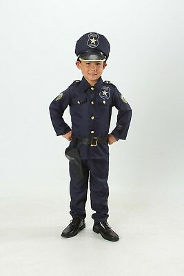Girl Police Costume (Kids Police officer Costume set Cop Light up Boys/Girls Size T S M 3 4 5 6)