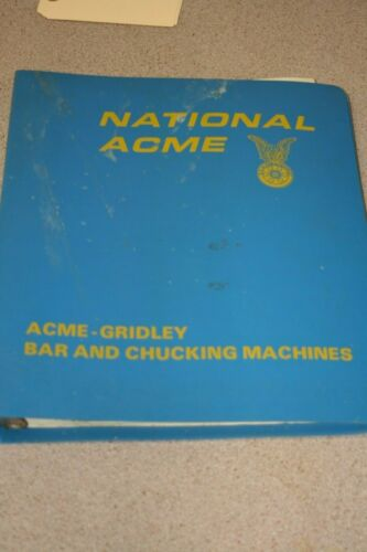 National Acme Acme-Gridley Estimating Training Manual  Free Shipping!