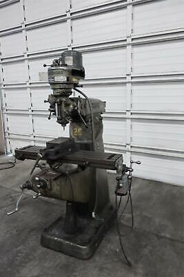 Bridgeport Milling Machine Step Pulley 9 X 42 Table Servo Power Feed Vise