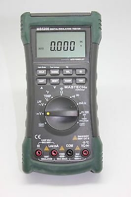 New Ms5208 Multifunction Insulation True Rms Multimeter W 1 Yr Warranty 1000v